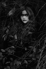 *** ([ theresa ]) Tags: white black art leaves mystery fairytale forest ga vintage georgia photography tears heart witch song branches w gothic goth dream surreal obsession monochromatic story theresa romantic augusta dreamy cloak nightmare concept timeless caprica a of