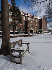 January 2016 Snow (Hendrix College) Tags: winter snow campus hendrix hendrixcollege mikekempphotography campusstock olympusomdem5 01222016