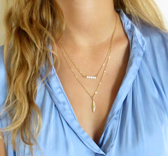 Layered Necklace - Multi Layer Necklace - Double Necklace - Set of 2 Necklaces - Gold Filled Necklace Set - Layering Necklace (galcohen2014) Tags: 2 set strand gold necklace jewelry double filled layer chic multi necklaces layered delictae