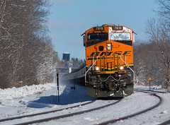K141 - Newark (ConnorShortPhotography) Tags: snow ny newyork k electric train general rochester transportation oil newark curve ge railfan bnsf csx k141 csxt gevo 7815 es44 es44c4 rochestersubdivision