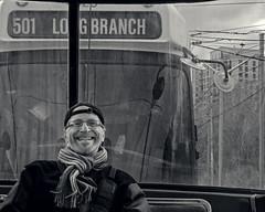 David on the 501 (JeffStewartPhotos) Tags: portrait blackandwhite bw toronto ontario canada blackwhite photographer candid photowalk casual streetcar toned 501 longbranch davidw torontophotowalk topw photowalker torontophotowalks 501streetcarwalk topw501