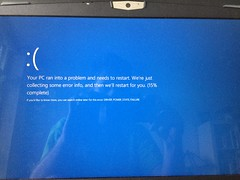 Blue screens of death now feature sadfaces (Sweet One) Tags: windows message error bluescreenofdeath 8 sadface