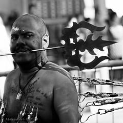 Singapore (ale neri) Tags: street portrait people blackandwhite bw singapore indian streetphotography thaipusam kavadi aleneri alessandroneri