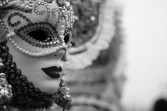 Masked feeling (katesherbourne) Tags: carnival venice blackandwhite italy mask fancydress venicecarnival