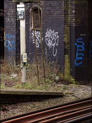Force (Alex Ellison) Tags: urban london graffiti force boobs tag railway graff trackside northwestlondon cbm 4ce