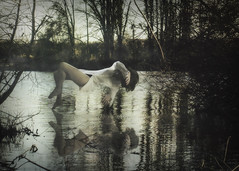 Floating (Indiesigh Ph) Tags: light portrait italy white lake nature girl beauty fog photoshop lago photography flickr photographer smoke creative dream surreal floating levitation atmosphere camicia piemonte delicate turin piedmont 500px indiesigh