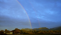 Double Rainbow over Clint Eastwood's Mission Ranch (SLDdigital) Tags: california sky rain landscape rainbow missioncarmel clinteastwood carmelbythesea twop landscapephotography missionranchcarmel slddigital missionranchclinteastwood