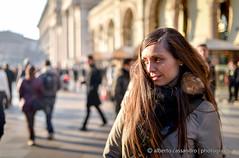 Staring at the sun (Alberto Cassandro) Tags: portrait milan 35mm nikon milano sigma portraiture piazzaduomo portraitphotography sigmalenses d810 sigmaart sigma35mmart albertocassandrophotography
