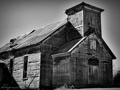 Abandoned Adams, Tennessee (gravescout) Tags: old blackandwhite abandoned church wooden adams tennessee historic forgotten ghosttown redriver bnw smalltown bellwitch johnbell robertsoncounty