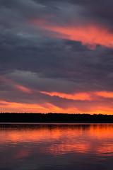 Dreaming of Summer (Bengal Thrush) Tags: pink light sunset summer usa cloud sun lake water minnesota clouds reflections twilight aqua purple sundown dusk transition mn goldenhour kabekona hubbard laporte