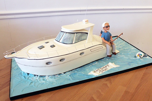 Fishing Boat Retirement Cake