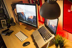 Office March 2016 (Bridge Computers) Tags: ikea apple office mac workspace lifehacker