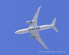 Qatar B787 ~ A7-BCD ( Freddie) Tags: london londoncityairport newham e16 lcy royaldocks eglc runway27