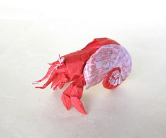 Hermit Crab (folding~well) Tags: hermitcrab paper origami crab folding
