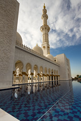 Untitled_HDR3 (Ali Sabbagh) Tags: world travel wallpaper sky color architecture canon landscape uae grand mosque zayed abudhabi marble sheikh eos7d sheikhzayedmosque