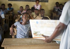 Reproductive Health for Young Girls in Cte dIvoire (The Global Fund) Tags: africa school girls education aids hiv classroom class teacher health westafrica cote sti prevention instruction infection civ ivorycoast divoire melekoukro