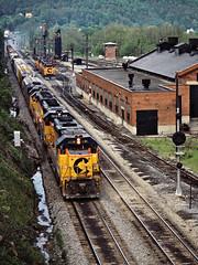B&O, Rowlesburg, West Virginia, 1984 (railphotoart) Tags: unitedstates westvirginia mk eb rowlesburg jct stillimage