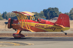 "Gene Soucy and ""Show Cat"" (Norman Graf) Tags: show cat plane airplane aircraft airshow aerobatics grumman showcat genesoucy agcat n7699 g164 nx7699 2015californiacapitalairshow"