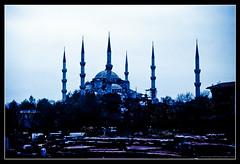 BLUE MOSQUE. 2 (adriangeephotography) Tags: urban architecture buildings photography nikon kodak slide mosque adrian kodachrome gee vivitar nikkormat series1 3585mmf28 adriangeephotography