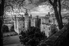 "Dunster Castle in Black and white • <a style=""font-size:0.8em;"" href=""http://www.flickr.com/photos/32236014@N07/25627205306/"" target=""_blank"">View on Flickr</a>"