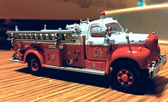 HO. 1/87 scale Mack pumper by Athen (Chicago Rail Head) Tags: miniature firetruck vehicle ho plasticmodel fireapparatus 187scale mackpumper byathearn