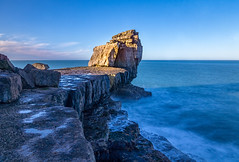 Pulpit rock (Anthony White) Tags: ocean longexposure blue light sea sunlight seascape nature portland rocks sony bluesky paisaje dorset frhling explored sonyalpha weymouthandportlanddistrict
