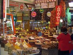 Turkey (Istanbul) Egyptian  Market (Spice Bazaar) (ustung) Tags: shop turkey spice istanbul bazaar eminonu egyptianmarket