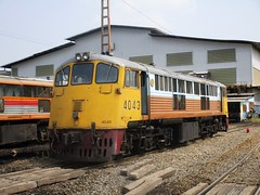 Bang Sue Depot, Thailand (Barang Shkoot) Tags: electric train thailand general bangkok engine depot locomotive ge gauge cummins gek srt metre 4043 bangsue shovelnose rotfai