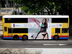 Slim Beauty (Mark Obusan) Tags: hk bus sexy beauty hongkong volvo slim bra ad advertisement bikini passenger alexander olympian sexsells doubledeck 652 publicutilitybus hu3818 d10a245 5hp500