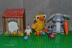 Happy Easter (87/366) (Tas1927) Tags: rabbit chicken easter lego pirate captainjack day87366 366the2016edition 3662016 27mar16