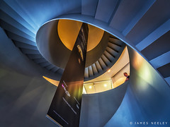 Upward Spiral (James Neeley) Tags: abstract london greenwich royalobservatory spiralstaircase jamesneeley