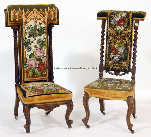 Two English Tapestry Chairs - $495.00 (Sold April 24, 2015)