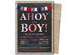 AHOY Boy Baby Shower (partyprintexpress) Tags: birthday pink girls boy party baby boys girl glitter kids modern children mom shower gold jump 1st sweet unique country pass ticket trendy vip christening whale 16 bling supplies unicorn invite diva chevron communion printed lumberjack babyshower invitations sixteen burlap lanyard printables glitz vippass