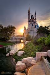 Sun Setting behind Cinderella's Castle (WDW Photo Adventure) Tags: sunset mainstreet disney disneyworld waltdisneyworld magickingdom cinderellascastle disneyresort d7100 tokina1116 disneyphotography