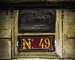 Incendios La Unin Compaa General Espaola N 49 (Ignacio M. Jimnez (antes hermano Montgolfier)) Tags: street espaa wall plaque pared calle spain andalucia 49 jaen andalusia placa ubeda