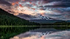Sunset over Mt Hood from Trillium Lake (Don Sullivan) Tags: sunset oregon mthood trilliumlake nikond810