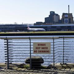 Deep Water ( Freddie) Tags: london londoncityairport newham e16 lcy royaldocks eglc runway27