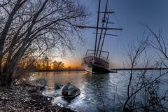 Cold evening sunset (KennyG-String) Tags: sunset canada lowlight stcatharines lakeontario shipwrecks tallships goldenhour niagaraonthelake niagararegion canon7dmkii