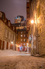 chateau frontenac (Thepacekeeper) Tags: winter snow castle outside quebec hiver neige chateau