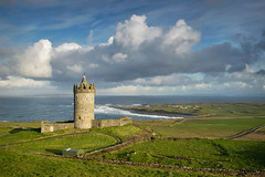 I want a sea view (explored) (Alan10eden) Tags: morning ireland light sky green castle tourism clouds rural sunrise canon dawn coast spring waves view tourist atlantic fields atlanticocean isolated doonagore 6d countyclare westofireland 24105mm wildatlanticway alanhopps