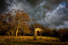 Storm over Croome. (cliveg004) Tags: trees sunset storm clouds temple worcestershire nationaltrust croome croomelandscapepark