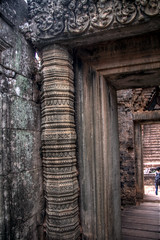 Pillers of Prae Roup (pbr42) Tags: sandstone cambodia khmer entrance doorway angkor passage hdr piller luminancehdr praeroup