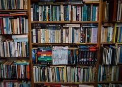 A bookworm's shelf (aleosign) Tags: shop books bookshelf dorset lyme regis