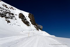 Mnchsjoch Hut (My Planet Experience) Tags: blue sky panorama mountain snow alps ice landscape schweiz switzerland scenery suisse glacier hut alpine svizzera range eiger jungfraujoch ch jungfrau aletsch mnch schilthorn mnchsjoch mnchsjochhtte wwwmyplanetexperiencecom myplanetexperience