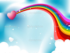 Heart Rainbow Trail (Mrs.TeresaMcWilliams) Tags: sky abstract art love colors illustration clouds design rainbow colorful heart decorative background creative romance clipart valentines backdrop february vector element eps rainbowcolors