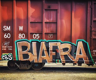 Biafra spotted in Tracy, California.