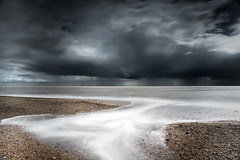 Black Rain (TS446Photo) Tags: world camera longexposure sea sky cloud seascape storm blur beach water rain weather club contrast landscape bay coast suffolk sand nikon tide wave coastal filter le 20mm nikkor dslr d800 lightroom
