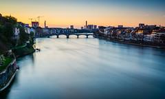 Day's end (Ian Allon) Tags: longexposure bridge sunset water river switzerland cityscape dusk basel rhine ch baselstadt leefilters bigstopper