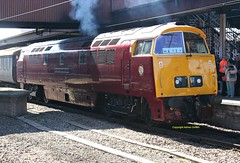 D1015 at York April 2016 (Ado Griff) Tags: maybach yorkstation d1015 dtg dieselhydraulic class52 westernchampion brtype4 maybachyorky