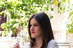 Cata (mabej2014) Tags: red espaa woman white cup look bread table mujer spain wine catas vine andalucia meat pan andalusia mirada mesa vino salchichn flamenqun loinroll